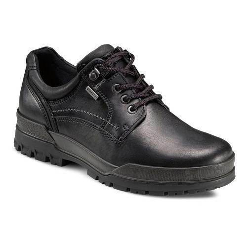 Mens Ecco USA Track 6 GTX Plain Toe Lo Casual Shoe - Black/Black 42