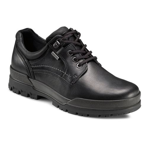 Mens Ecco USA Track 6 GTX Plain Toe Lo Casual Shoe - Black/Black 43