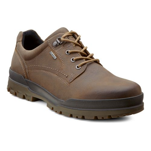 Mens Ecco USA Track 6 GTX Plain Toe Lo Casual Shoe - Navajo Brown/Dark Clay ...