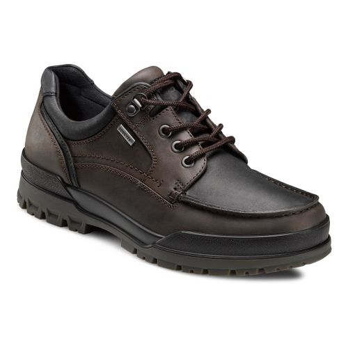 Mens Ecco USA Track 6 GTX Moc Toe Lo Casual Shoe - Coffee/Black 39