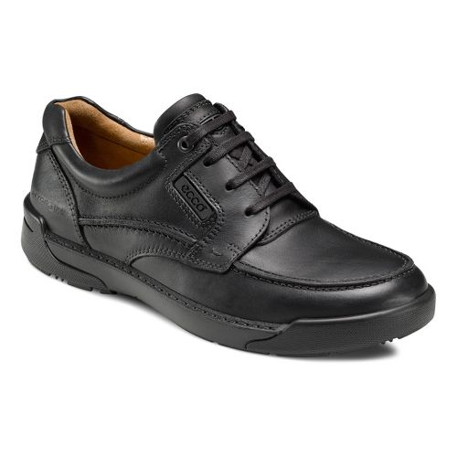 Mens Ecco USA Dason Moc Toe Tie Casual Shoe - Black/Black 46