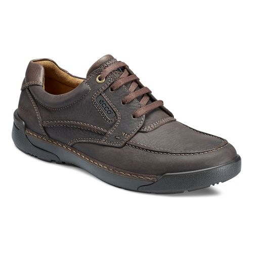Mens Ecco USA Dason Moc Toe Tie Casual Shoe - Coffee/Dark Clay 42