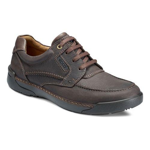 Mens Ecco USA Dason Moc Toe Tie Casual Shoe - Coffee/Dark Clay 46
