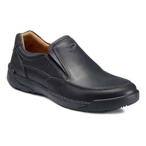 Mens Ecco USA Dason Moc Toe Slip On Casual Shoe - Black/Black 45