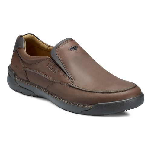 Mens Ecco USA Dason Moc Toe Slip On Casual Shoe - Bison/Coffee 40