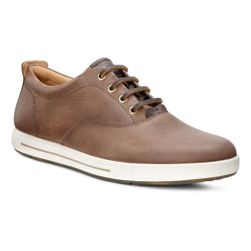 Mens Ecco Eisner Retro Tie Casual Shoe - Cocoa Brown/Coffee 42
