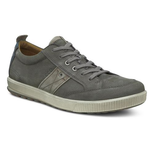 Mens Ecco USA Ennio Casual Tie Casual Shoe - Warm Grey/Stone 40