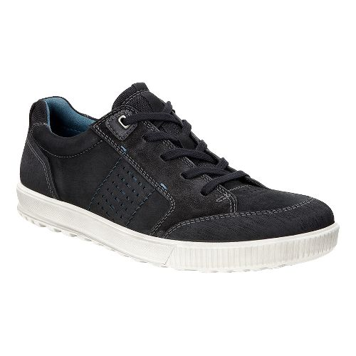 Mens Ecco Ennio Tie Casual Shoe - Black/Cow Nubuck 42