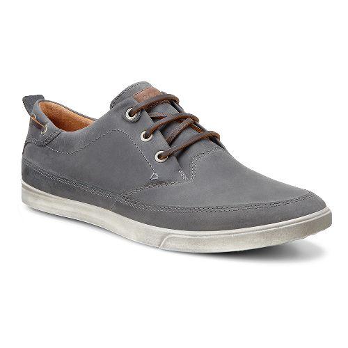 Mens Ecco Collin Nautical Sneaker Casual Shoe - Titanium/Cocoa Brown 43