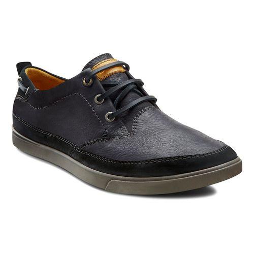 Mens Ecco USA Collin Nautical Sneaker Casual Shoe - Black/Black 44