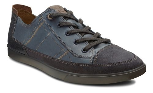 Mens Ecco USA Collin Cap Toe Sneaker Casual Shoe - Moonless/Marine 45