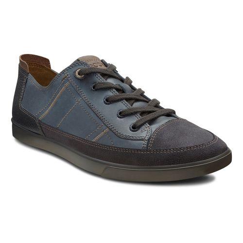 Mens Ecco USA Collin Cap Toe Sneaker Casual Shoe - Moonless/Marine 42