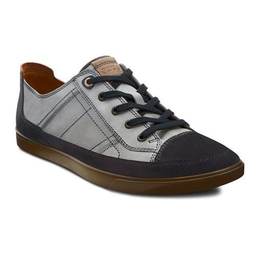 Mens Ecco USA Collin Cap Toe Sneaker Casual Shoe - Moonless/Wild Dove 48