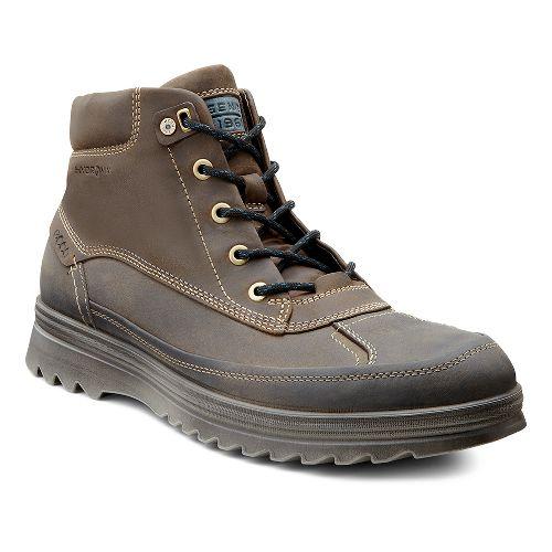Mens Ecco USA Darren Hydromax Low Casual Shoe - Warm Grey/Birch 43