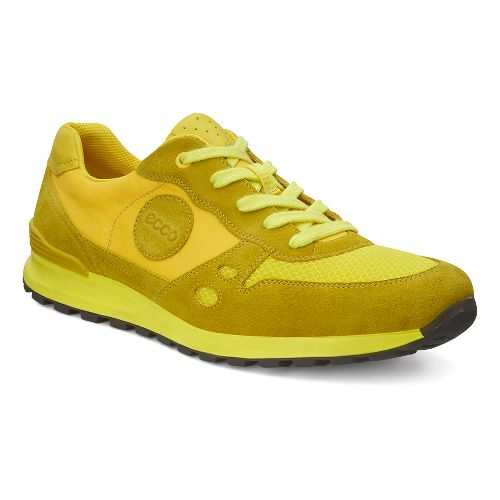 Mens Ecco USA CS14 Retro Sneaker Casual Shoe - Bamboo/Buttercup 41