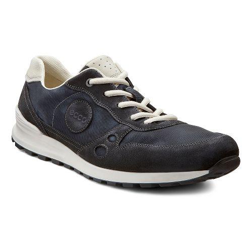 Mens Ecco USA CS14 Retro Sneaker Casual Shoe - Black/Shadow White 44