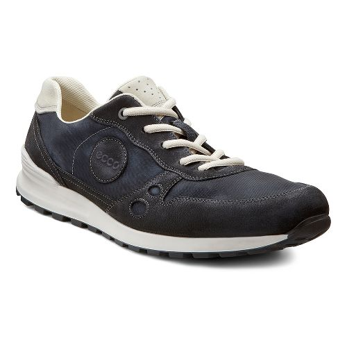 Mens Ecco USA CS14 Retro Sneaker Casual Shoe - Black/Shadow White 45