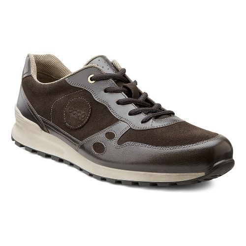 Mens Ecco USA CS14 Casual Sneaker Casual Shoe - Dark Clay/Licorice 42