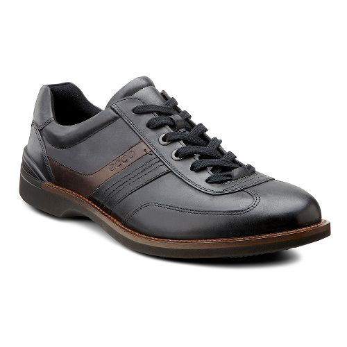 Mens Ecco USA Fenn Tie Casual Shoe - Black/Coffee 42