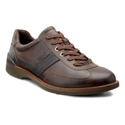 Mens Ecco USA Fenn Tie Casual Shoe - Coffee/Black 46