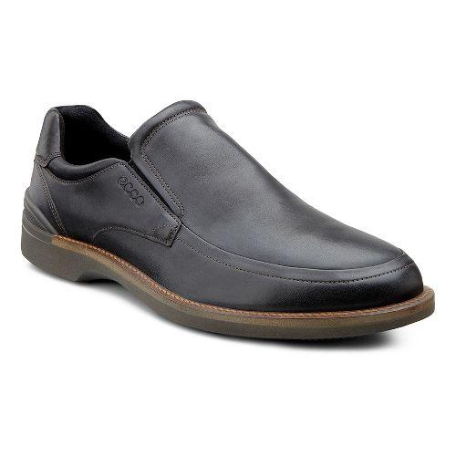 Mens Ecco USA Fenn Slip On Casual Shoe - Black Santiago 46