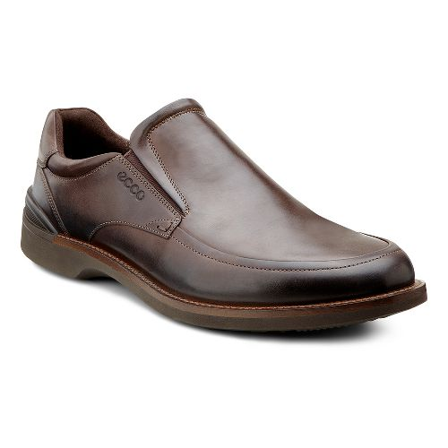 Mens Ecco USA Fenn Slip On Casual Shoe - Coffee/Aztec 39