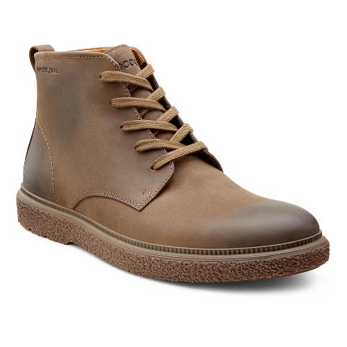 Mens Ecco USA Faxon Lace Boot Casual Shoe - Birch 42