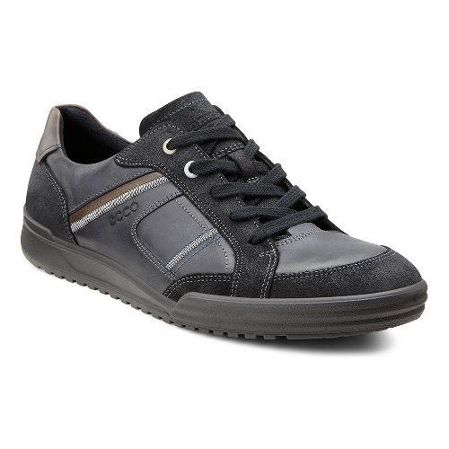 Mens Ecco USA Fraser Casual Tie Casual Shoe - Black/Black 44