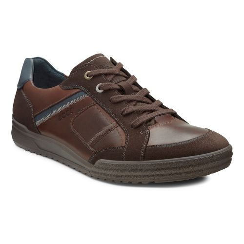 Mens Ecco USA Fraser Casual Tie Casual Shoe - Espresso/Cocoa Brown 46