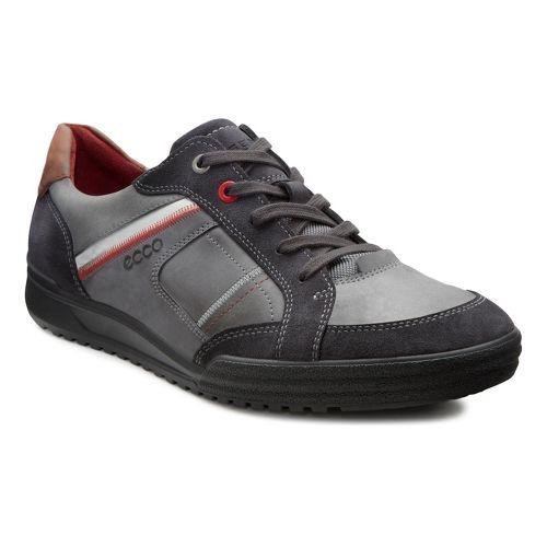 Mens Ecco USA Fraser Casual Tie Casual Shoe - Moonless/Cognac 42