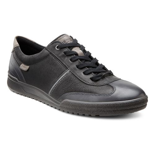 Mens Ecco USA Fraser Classic Tie Casual Shoe - Black/Black 46