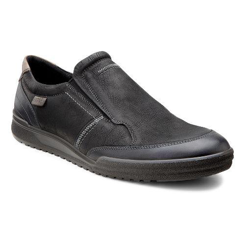 Mens Ecco USA Fraser Classic Slip On Casual Shoe - Black/Black 40
