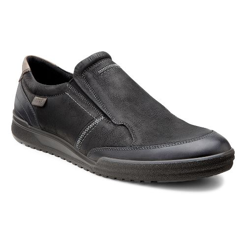 Mens Ecco USA Fraser Classic Slip On Casual Shoe - Black/Black 45