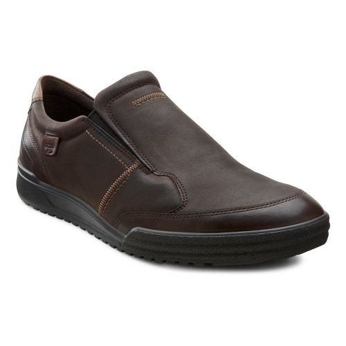 Mens Ecco USA Fraser Classic Slip On Casual Shoe - Coffee/Espresso 44