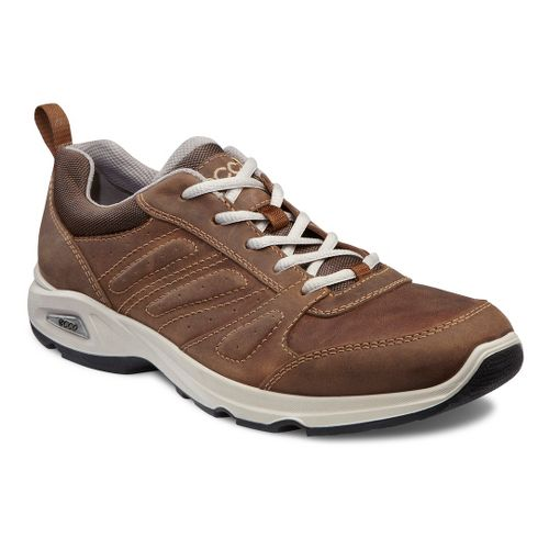 Mens Ecco USA Light III Plus Walking Shoe - Camel/Cocoa Brown 46