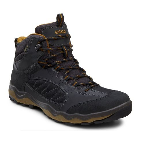 Mens Ecco USA Ulterra Mid GTX Hiking Shoe - Black/Black 46