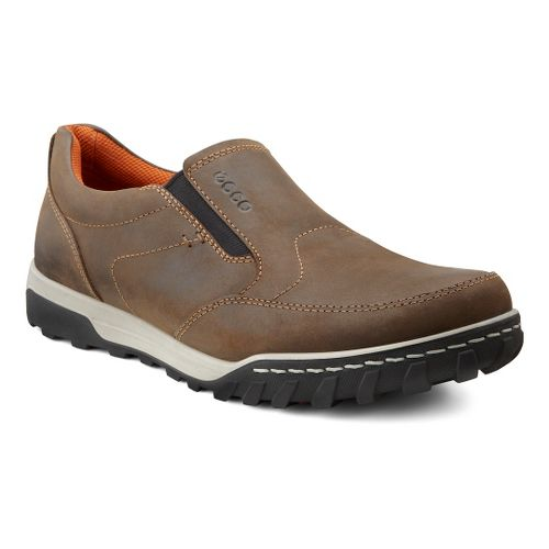 Mens Ecco USA Urban Slip On Casual Shoe - Coffee 45