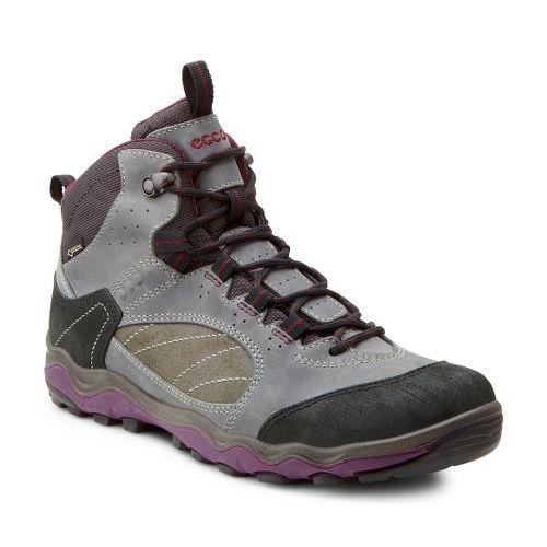 Womens Ecco USA Ulterra Mid GTX Hiking Shoe - Black/Dark Shadow 37
