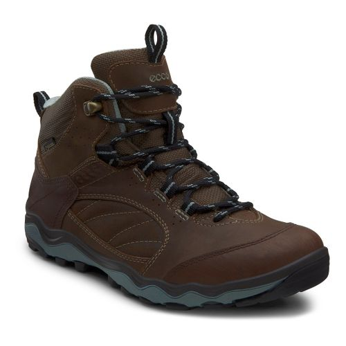 Womens Ecco USA Ulterra Mid GTX Hiking Shoe - Coffee/Birch 37