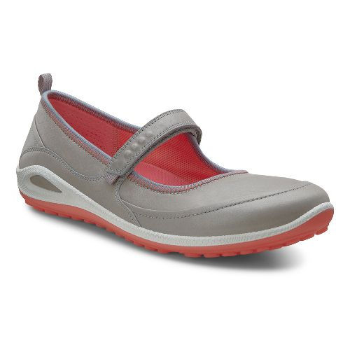 Womens Ecco USA Biom Grip Lite MJ Casual Shoe - Silver Grey/Coral 36