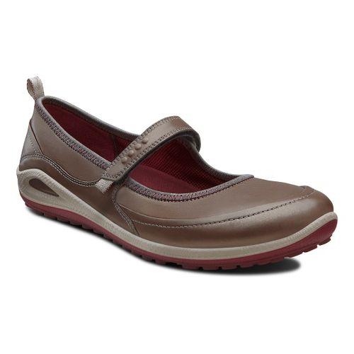 Womens Ecco USA Biom Grip Lite MJ Casual Shoe - Warm Grey/Port 36