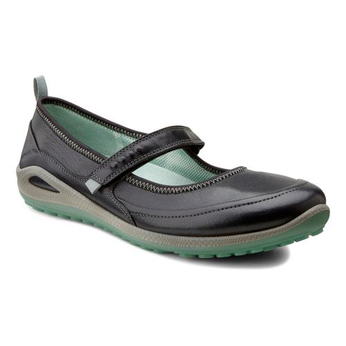 Womens Ecco USA Biom Grip Lite MJ Casual Shoe - Silver Grey/Coral 37