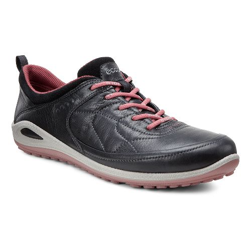 Womens Ecco Biom Grip Lite Plus Casual Shoe - Black/Petal Trim 41