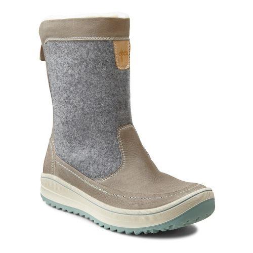 Womens Ecco USA Trace Zip Casual Shoe - Wild Dove/Titanium 39