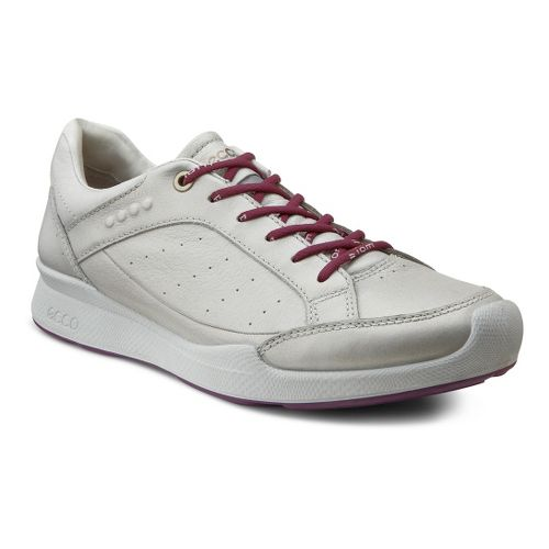 Womens Ecco USA Biom Hybrid Walk Low Walking Shoe - Silver Grey/Burgundy 36