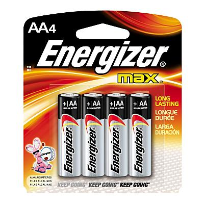 Energizer Max AA Batteries 4 pack Electronics