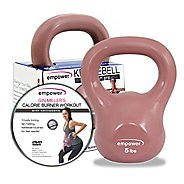 Empower Comfort Grip Kettlebell w/DVD 5lb Fitness Equipment