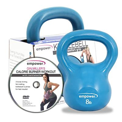 Empower Comfort Grip Kettlebell w/DVD 8lb Fitness Equipment