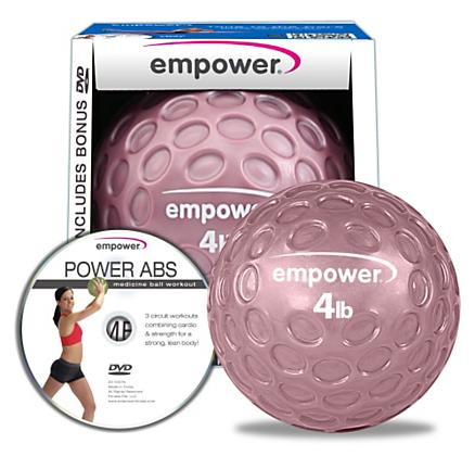Empower Fingertip Grip Medicine Ball w/DVD 4lb Fitness Equipment