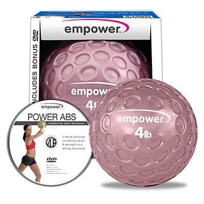 Empower Fingertip Grip Medicine Ball w/DVD 4lb Fitness Equipment